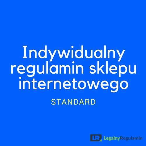 ce23220b361ae Indywidualny regulamin sklepu internetowego (standard ...