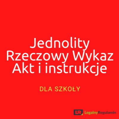 JRWA i instrukcje dla szkoły